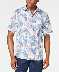 Tommy Bahama Men's Pavia Palms Stretch Tropical-Print Camp Shirt