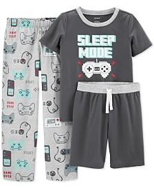 Carter's Little & Big Boys 3-Pc. Sleep Mode Pajamas Set