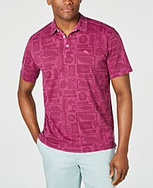 Men's Lido Beach Club Tropical-Print Pima Cotton Polo