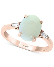 EFFY® Opal (1-1/3 ct. t.w.) & Diamond (1-1/10 ct. t.w.) Ring in 14k Rose Gold