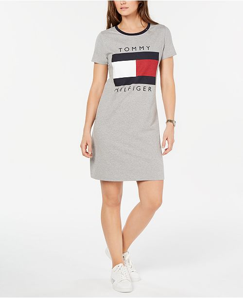 neues Erscheinungsbild im Angebot suche nach neuesten Tommy Hilfiger Logo T-Shirt Dress, Created for Macy's ...