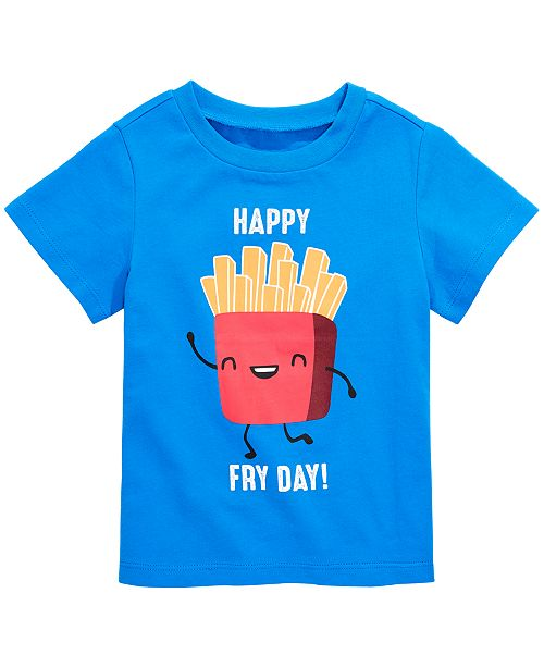 First Impressions Toddler Boys Happy Fry Day Graphic Cotton T-Shirt, Created for Macy's