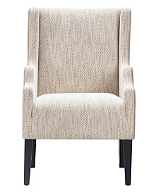 Tommy Hilfiger Barton Two Toned Wingback Chair, Quick Ship