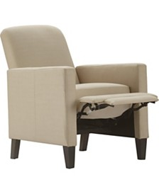 CLOSEOUT! Truly Home Cooper Push Back Reclining Accent Chair, Quick Ship
