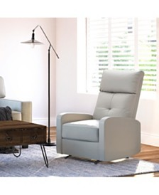 Truly Home Henderson Leather Recliner Chair, Quick Ship