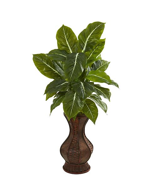 """Nearly Natural 31"""" Evergreen Artificial Plant in Decorative Planter (Real Touch)"""