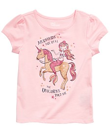 Epic Threads Little Girls Mermaid & Unicorn Graphic T-Shirt, Created for Macy's
