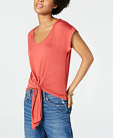 Crave Fame Juniors' Lace-Back Top