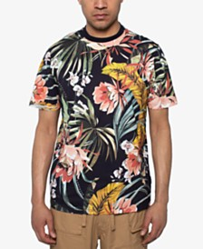 Sean John Men's Deep Floral Printed T-Shirt