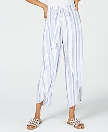 Juniors' Cropped Wrap Pants