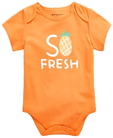 First Impressions Baby Boys or Girls Pineapple Bodysuit, Created for Macy's