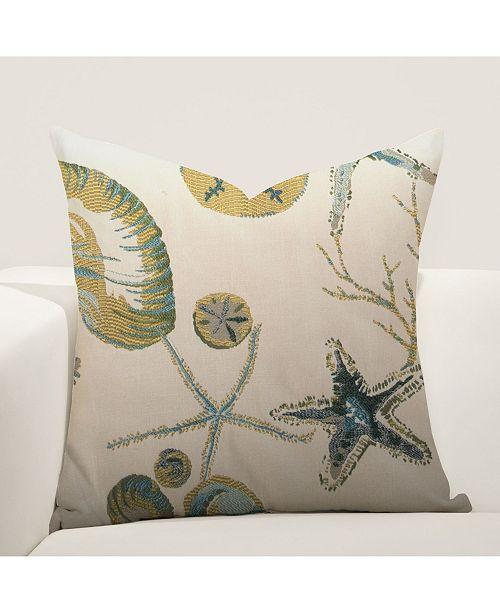 "Siscovers Naples Ocean 26"" Designer Euro Throw Pillow"