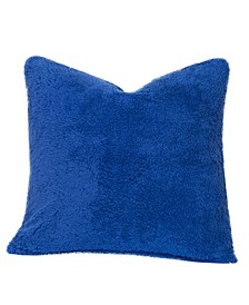 "Playful Plush Blueberry Blue 20"" Designer Throw Pillow"