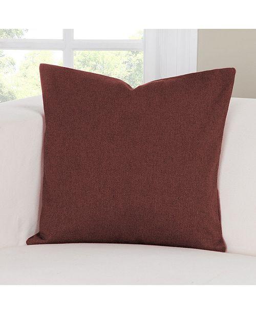 Siscovers Camelhair Crimson  Designer Throw Pillow