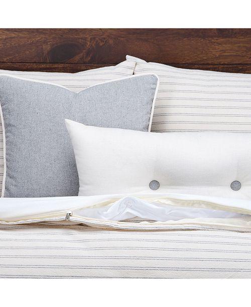 Siscovers Ticking Stripe Pewter 5 Piece Twin Luxury Duvet Set