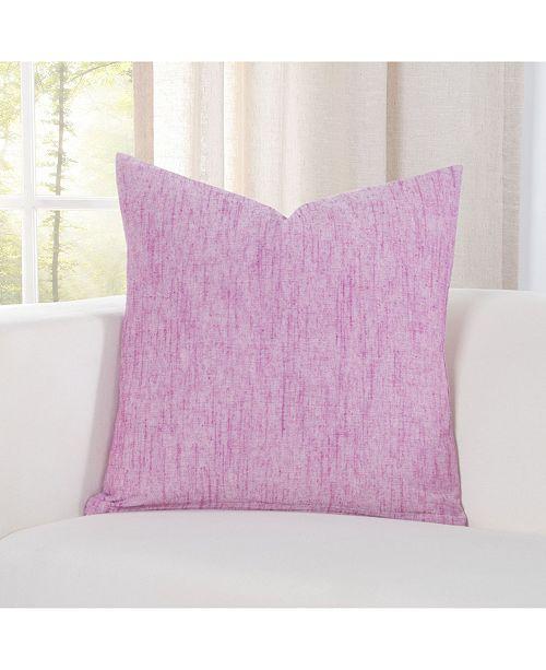 "Siscovers Pacific Raspberry Linen 20"" Designer Throw Pillow"