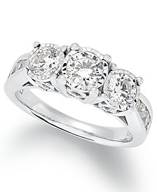 Diamond Trinity Ring (1-1/2 ct. t.w.) in 14k White Gold