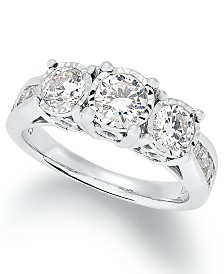Trumiracle® Diamond Trinity Ring (1-1/2 ct. t.w.) in 14k White Gold