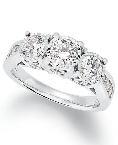 Trumiracle 174 Diamond Trinity Ring 1 1 2 Ct T W In 14k