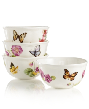Lenox Dinnerware Butterfly Meadow Bloom Assorted Bowls set of 4