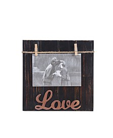"""Love"" Wood Block 4"" x 6"" Picture Frame"