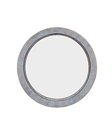 """20"""" Round Wall Mirror with Antiqued Copper Metal Frame"""