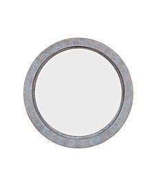 "Danya B. 20"" Round Wall Mirror with Antiqued Copper Metal Frame"