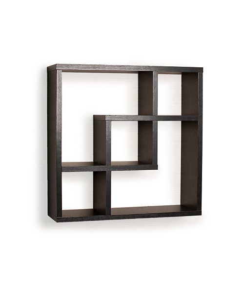 new arrival 5644a 97043 Geometric Square Wall Shelf with 5 Openings