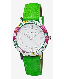 Ladies' Band Floral Bezel Watch