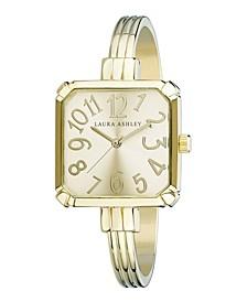 Gold Skinny Bangle Square Watch