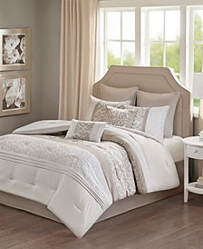 Ramsey Queen Embroidered 8 Piece Comforter Set