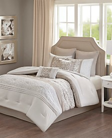 510 Design Ramsey Queen Embroidered 8 Piece Comforter Set