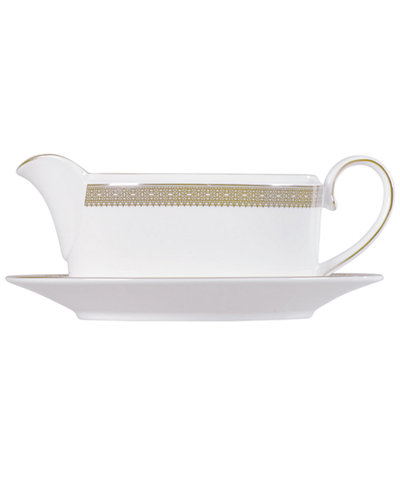 Vera Wang Wedgwood Dinnerware, Lace Gold Gravy Boat Stand
