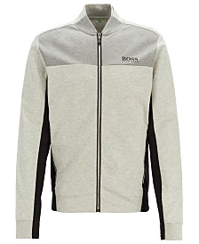 BOSS Men's SL-Tech Water-Repellent Sweat Jacket