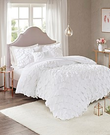 Madison Park Octavia King/California King 4 Piece Ruffled Comforter Set