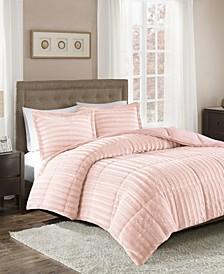 Madison Park Duke Full/Queen Faux Fur 3 Piece Comforter Set