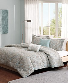 Madison Park Pure Ronan Full/Queen 5 Piece Cotton Comforter Set