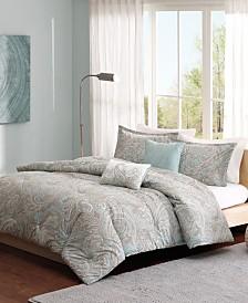 Madison Park Pure Ronan Full/Queen 5 Piece Cotton Comforter Set