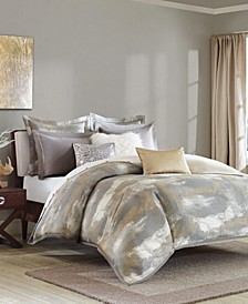 Madison Park Signature Graphix Queen 8 Piece Jacquard Comforter Set