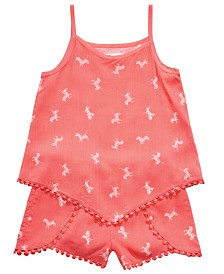 Epic Threads Little Girls 2-Pc. Zebra-Print Tank Top & Shorts Set, Created for Macy's