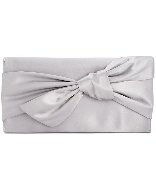 INC International Concepts I.N.C. Bowah Hands Through Satin Clutch, Created for Macy's