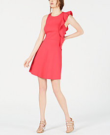 Bar III Asymmetrical Fit & Flare Dress, Created for Macy's