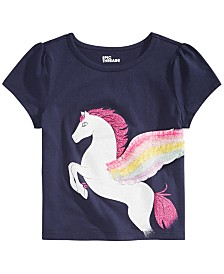 Epic Threads Little Girls Unicorn-Print T-Shirt, Created for Macy's