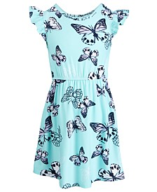 Epic Threads Little Girls Butterfly-Print Flutter-Sleeve Dress, Created for Macy's