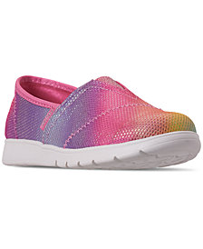 Skechers Little Girls' Lil' BOBS Pureflex - Sparkle Joy Slip-On Casual Sneakers from Finish Line
