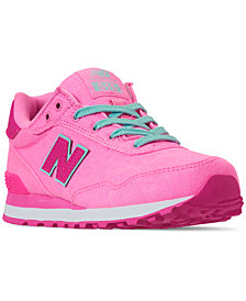 New Balance Little Girls' 515 Spring Canvas Casual Sneakers from Finish Line