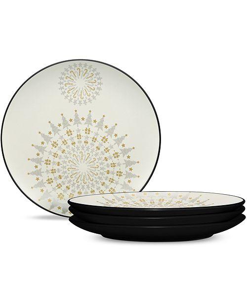 Noritake Colorwave Graphite Holiday Plates - Set of 4
