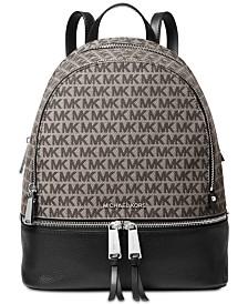 MICHAEL Michael Kors Rhea Jacquard Signature Backpack