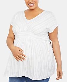 Jessica Simpson Maternity Plus Size Babydoll Blouse