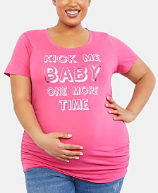 Motherhood Maternity Kick Me Baby One More Time™ T-Shirt